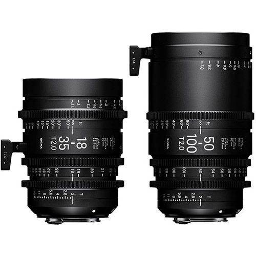 2pc Cine Zoom Lens Kit (Canon EF S35) - 18-35/T2, 50-100/T2 & PMC-001 Case