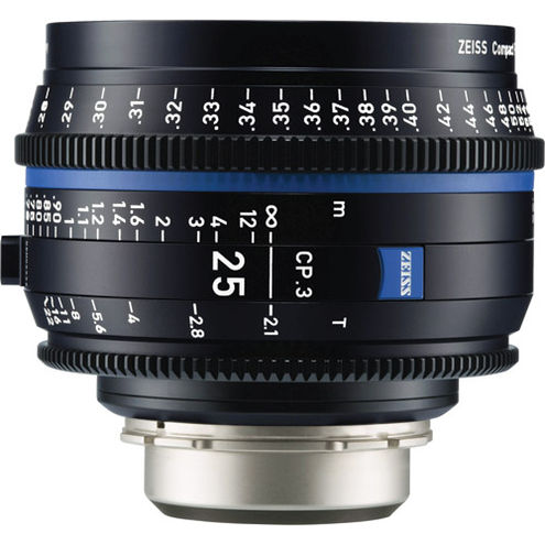 CP.3 T2.1/25mm Lens - PL Mount (Feet)