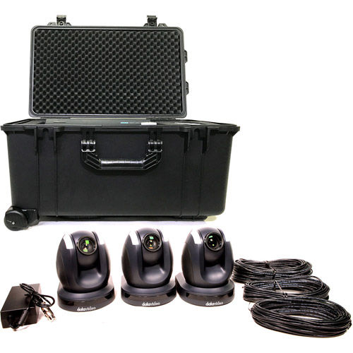 3 x Camera Kit with Rolling Hard Case and Ethernet Cables