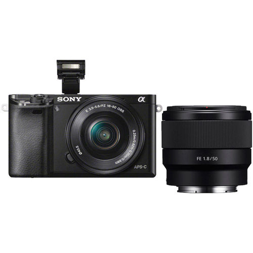Sony A6000 Black Kit w/ SEL 16-50mm PZ & SEL FE 50mm f/1 8