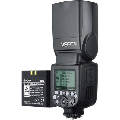 V860 II Flash Kit -Olympus includes Li-On Battery, Charger, Case