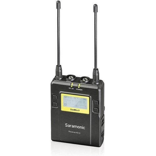 UwMic9 RX9 - Simultaneous Dual TX Wireless Mic Receiver Only - UHF Wireless RX