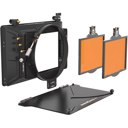 """Misfit Kit 3 Matte Box 4""""x 5.65"""" Top Flag & Mounts, 143 mm Clamp Attachmnet 2 Trays"""