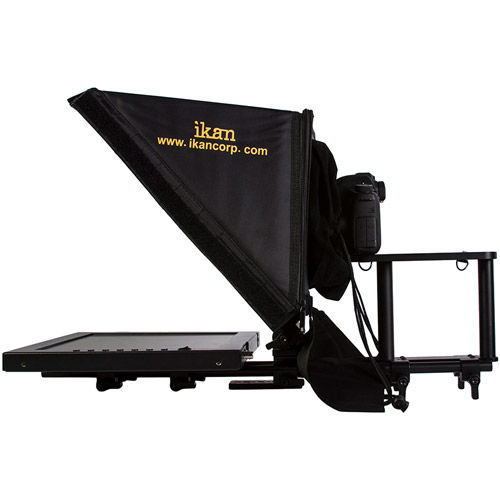 "PT3500 15"" Rod Mounted Teleprompter for Location and Studio"