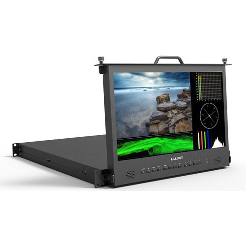 """17.3"""" Full HD pull-out Rack monitor with Waveform, Vector."""