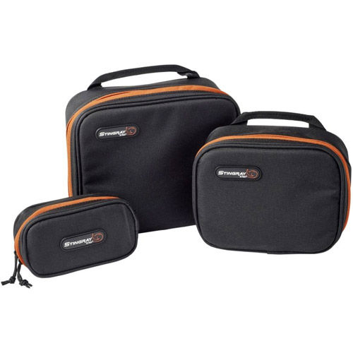 KGBSET Gizmo Bag Set, Clear View Zippered Pockets Inside Lid and Clear View Bottom