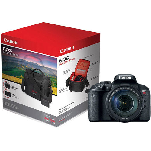 Canon Eos Rebel T7i Kit W Ef S 18 135mm F 3 5 5 6 Is Stm With Rebel Accessory Pack