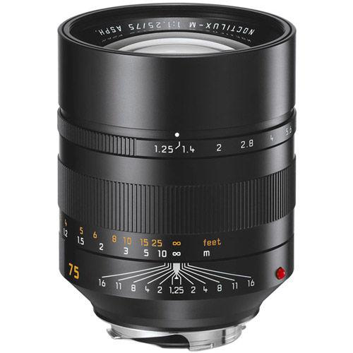 75mm f/1.25 ASPH Noctilux-M Black Lens (E67)