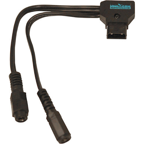 "D-Tap Cable to Two Female 2.5mm Power Adaptors (7"")"