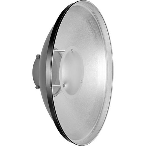 Beauty Dish Reflector, Bowens Mounting, 55cm Silver (No Honeycomb)