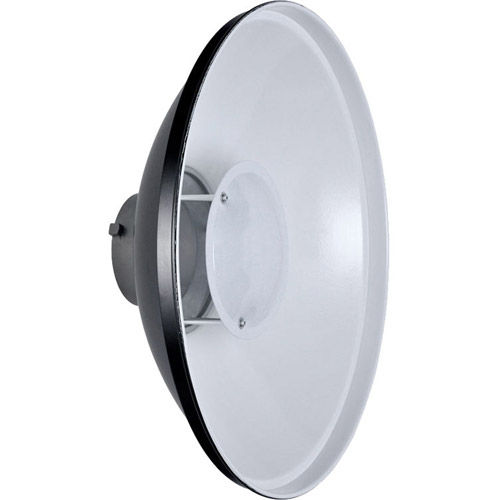 Beauty Dish Reflector, Bowens Mounting, 55cm White (No Honeycomb)