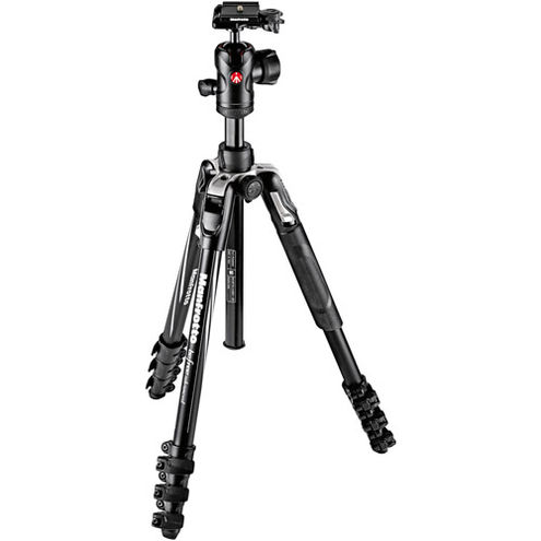 Befree Advance Aluminum 4-Section Kit Black With Lever Locks And MH494-BH Ball Head
