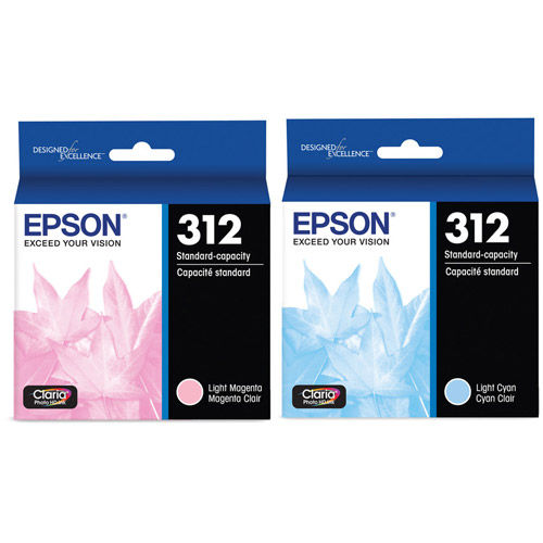 T312922-S  Light Cyan/Light Magenta Combo Ink Cartridges w/ Sensormatic