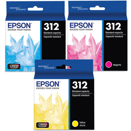 T312923-S Color Multi-pack (Cyan, Magenta, Yellow) Ink Cartridges w/ Sensormatic for XP-15000