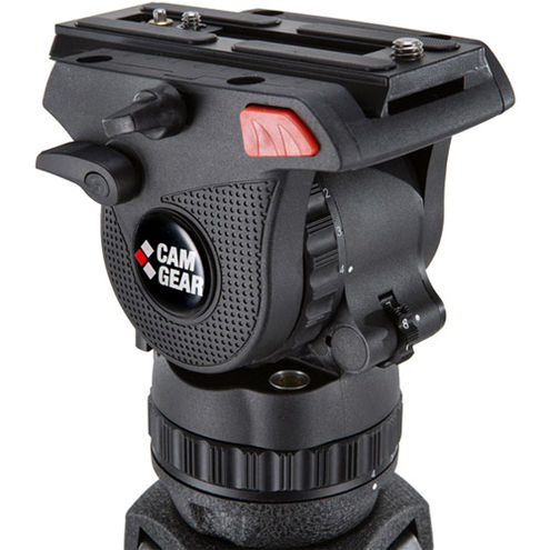 Mark 6 Composite Fluid Head Designed For DSLR/HDV Payload 0-22 lbs, 75mm Bowl and 3/8'-16 Thread