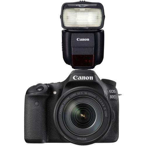 Canon EOS 80D Body with Bonus 430EX III-RT Speedlight 1263C004 430EX
