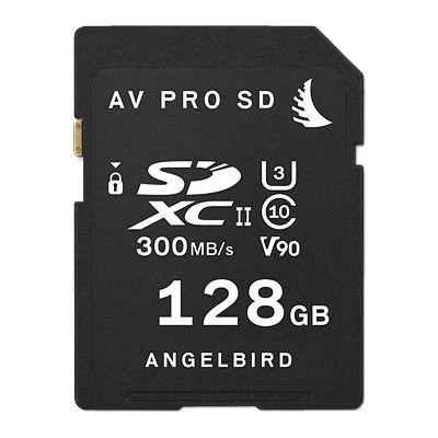 AVPRO 128GB SDXC UHS-II U3 Class 10 V90 Card, 300MB/s read & 260MB/s write speeds