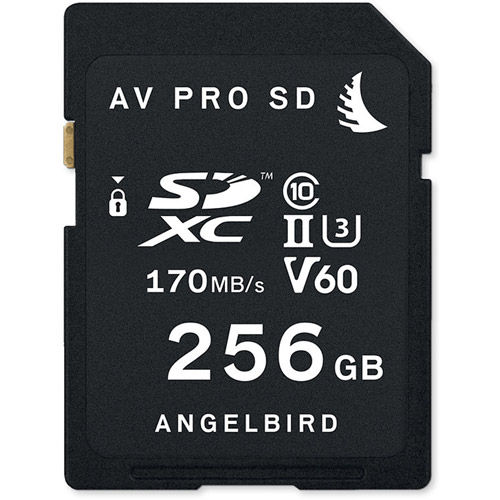 AVPRO 256GB SDXC UHS-II U3 Class 10 V60 Card, 170MB/s read & write speeds