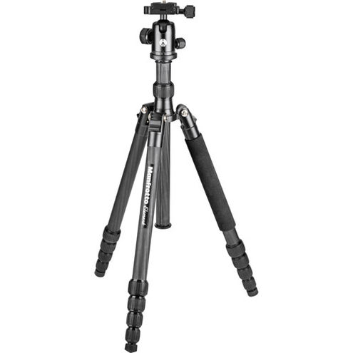 Element Traveller Carbon Tripod Kit Big Black 5 section With Ball Head w/Arca -Style QR