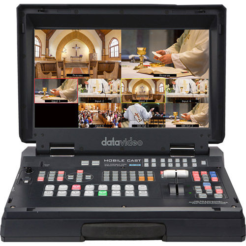 6 input HD mobile studio with built-in streaming & recording with 4x HD-SDI and 2x HDMI inputs