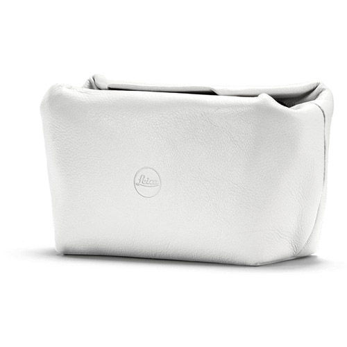 C-Lux Leather Soft Pouch , White