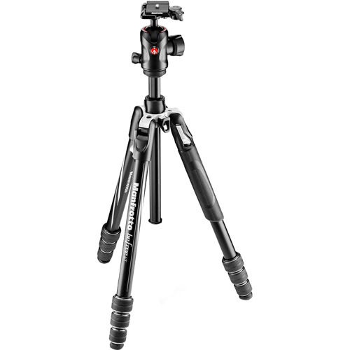 Befree GT Aluminum 4 Section Kit Black With Twist Locks And MH496-BH Ball Head