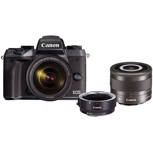 EOS M5 With 18-150 Kit With EF-M28mm f3.5 Macro IS  STM And EF-EOS M Lens Adapter