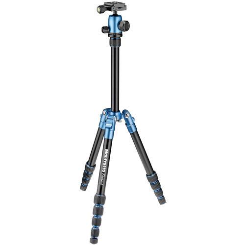Element Traveller Aluminum Tripod  small kit  Black w/ Blue Trim  W /BALL HEAD