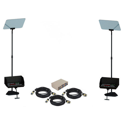 "TSP2-19 BUN 19"" Presidential Teleprompter Bundle includes Two TSP2-19 Teleprompter"