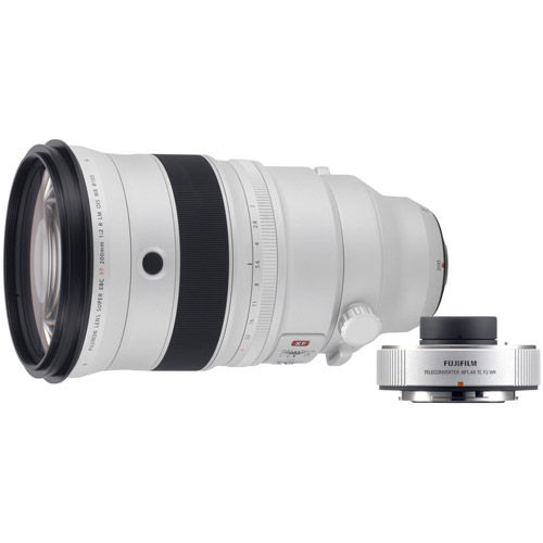 Fujinon XF 200mm f/2.0 R LM OIS WR Lens & XF 1.4X TC WR Tele-Converter