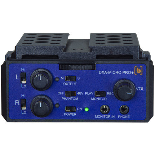 DXA-MICRO PRO PLUS  2 Channel Active Audio Adaptor with XLR Built in cheese plate, LiPo battery