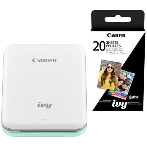 IVY Mini Photo Printer 2 x 3 Mint Green With ZINK 2 x 3 - 20 Pack Paper
