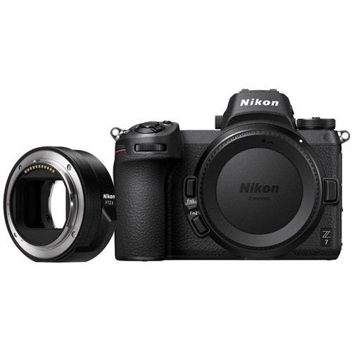 Z7 Mirrorless Body w/ NIKKOR FTZ Mount Adapter