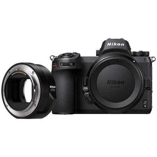 Z6 Mirrorless Body w/ NIKKOR FTZ Mount Adapter