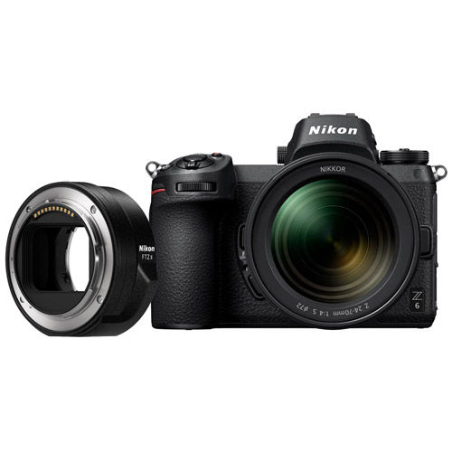 Z6 Mirrorless Kit w/ NIKKOR Z 24-70mm f/4.0 S Lens & NIKKOR FTZ Mount Adapter