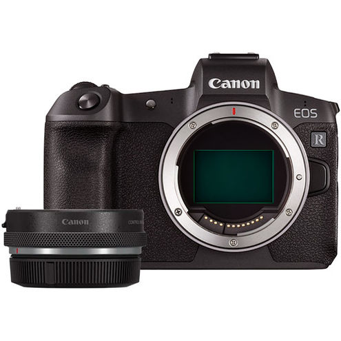 EOS R Full Frame Mirrorless Camera Body With EOS R Adapter with Control Ring