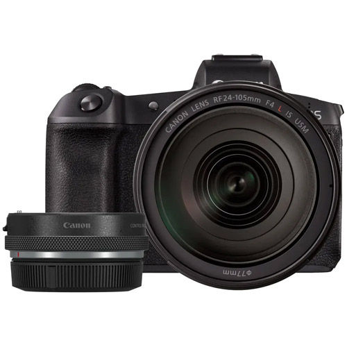 EOS R Full Frame Mirrorless Kit w/RF 24-105 f4 L IS USM Lens With EOS R Adapter with Control Ring