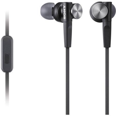 MDR-XB50AP Extra Bass Earbud Headset (Black)