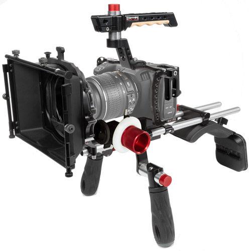 Blackmagic Pocket Cinema 4K Shoulder Mount Matte Box, Follow Focus