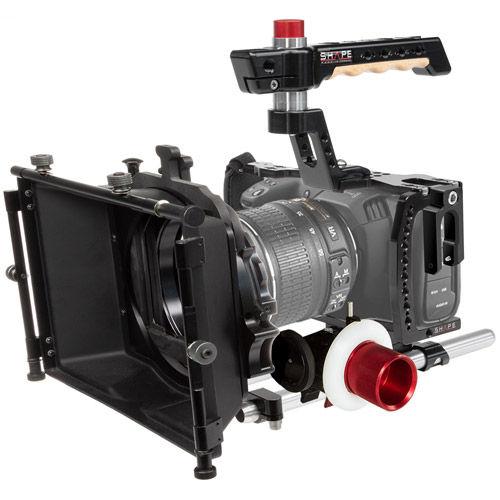 Blackmagic Pocket Cinema 4K Cage Kit, Matte Box, Follow Focus
