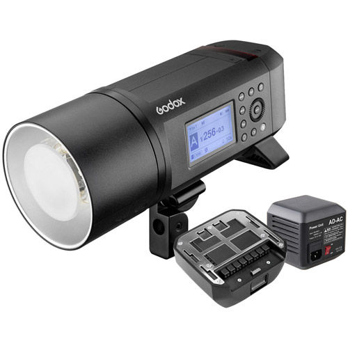 AD600 Pro TTL 600W Studio Flash w/Bowen Mount with Second Battery and AC Adapter