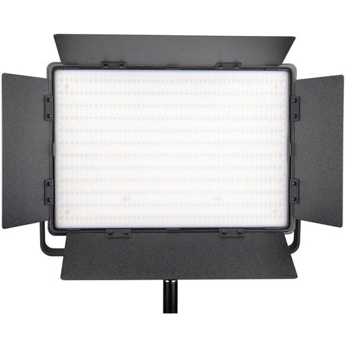 LG-1200CSCII LED Light Bicolor with V Mount, Barndoors, WiFi, Diffuser, DC Adapter and Filters