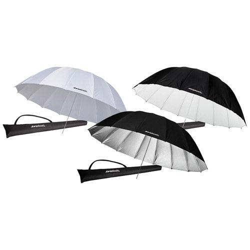 7' Umbrella Bundle:  (1) - 7' Diffusion, (1) - 7' Soft Silver And (1) - 7' White/Black
