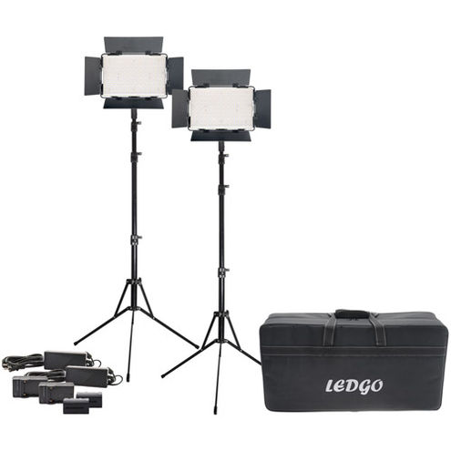 2 x LG-B560CII LED Light Bi-Color with2 x Stands, 2 x AC Power Supply, 2 x Battery/Charger ,Case