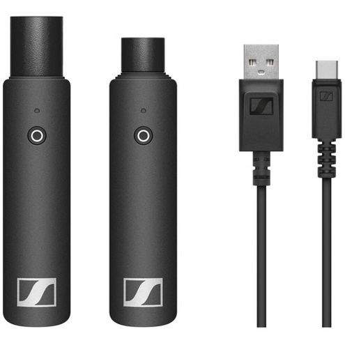 XLR base set with (1) XSW-D XLR FEMALE TX, (1) XSW-D XLR MALE RX and (1) USB charging cable