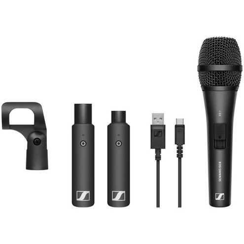 Vocal set with (1) XS1 cardioid dynamic mic, (1) X (1) XSW-D XLR MALE RX, (1) mic clamp and (1) USB c