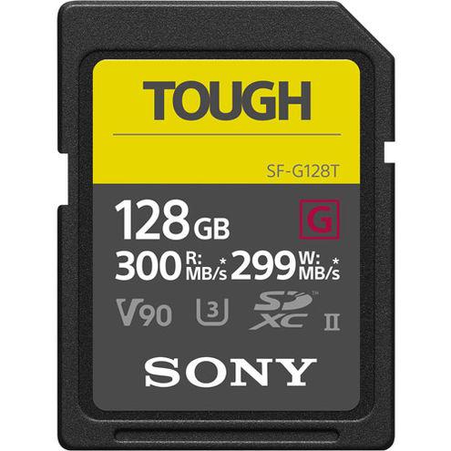 TOUGH 128GB SDXC UHS-II U3 Class 10 V90 Card, 300MB/s read & 299MB/s write speeds