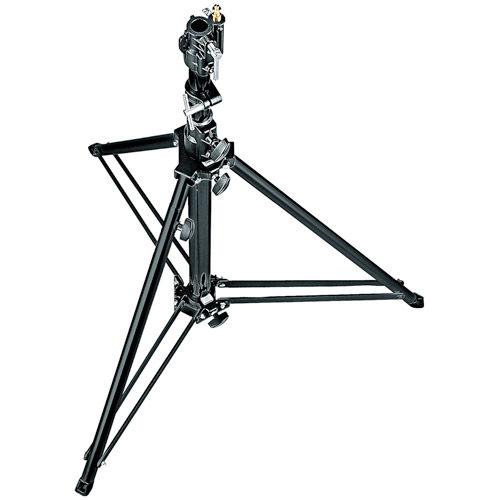 070BU Follow Spot Stand w/Leveling Leg (Black, 4.8')
