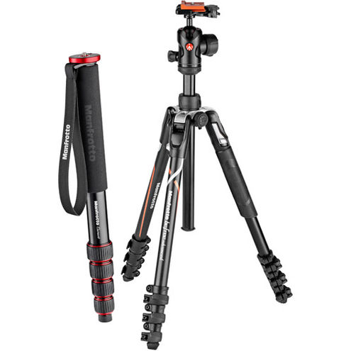 Befree Advanced Alpha Aluminum 4-Section Kit Lever w/ FREE Element 5 Section Monopod Black