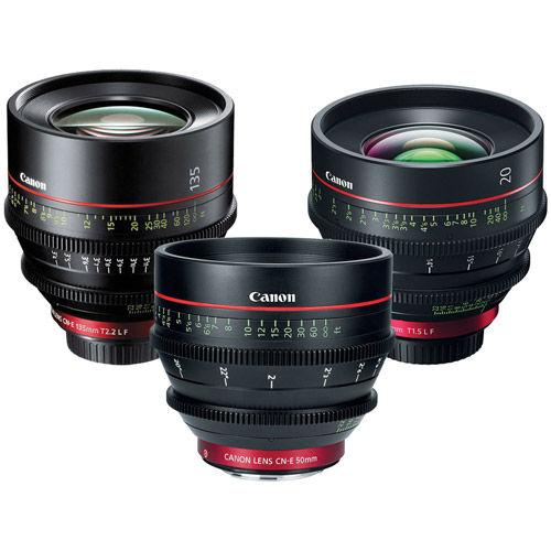 Cine EF Prime 3 Lens Set w/ CN-E 20/50/135mm Lens